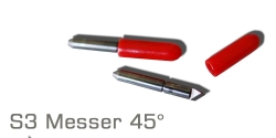 S3 Messer 2,5mm Rot 45°
